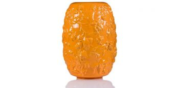 Vaza portocalie din ceramica 40 cm