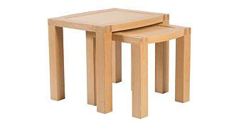 Set 2 Masute Cafea, Lemn Stejar, Pal Furniruit, Kingston, 60x61x52cm