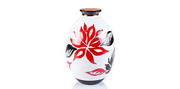Vaza Ceramica Pictata 23cm
