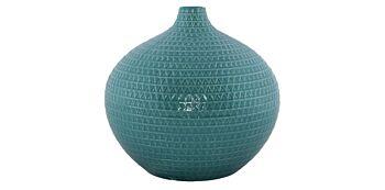 Vaza Rotunda Bleu din Ceramica 19cm
