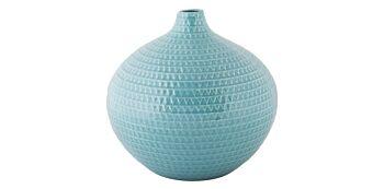 Vaza Rotunda Bleu din Ceramica 24cm