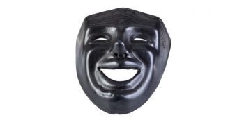 Masca Traditionala Mica Neagra Model pentru Pictura
