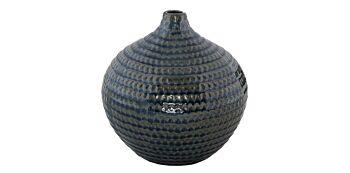 Vaza Rotunda Verde din Ceramica 19cm