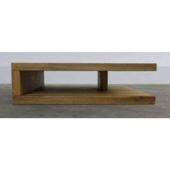 Masuta cafea Jolie, lemn masiv, natur - Lungime: 70 cm, Latime: 70 cm