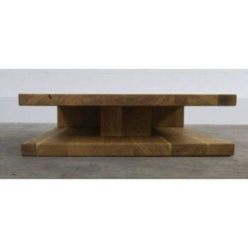 Masuta cafea Jolie, lemn masiv, natur - Lungime: 110 cm, Latime: 70 cm
