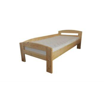 Pat dormitor Lemn Masiv Serena, lemn brad, cu protectie la perete