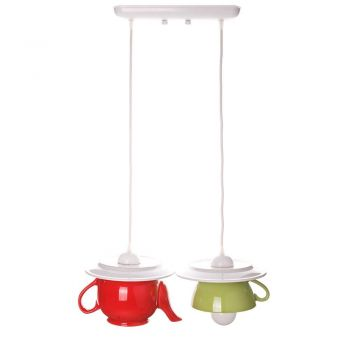 "Lustra ""Tea time"" red&green"