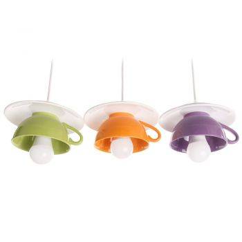 "Lustra ""Afternoon tea"" triple crazy mix: green-orange-purple"