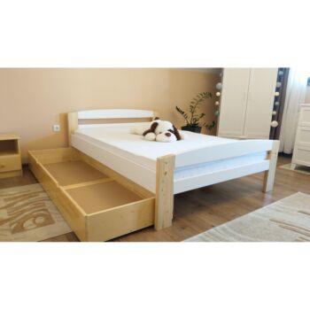 Pat dormitor Lemn Masiv Serena multicolor, cu lada de depozitare