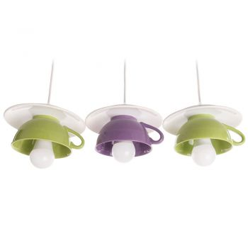 "Lustra ""Afternoon tea"" triple crazy mix: green-purple-green"