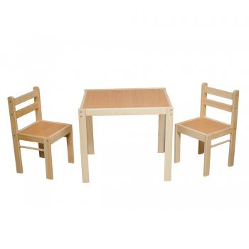 Set pentru copii LET'S PLAY, masa si doua scaune