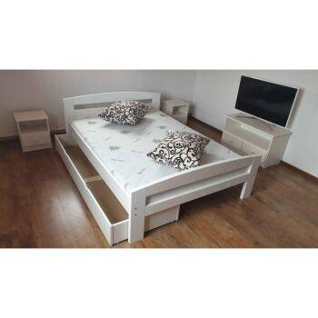 Pat dormitor Lemn Masiv Serena, cu lada de depozitare
